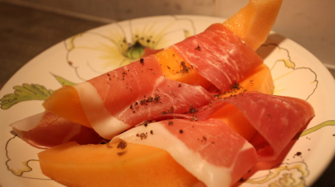 Melon Wrapped Prosciutto