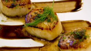 Guava Seared Scallops